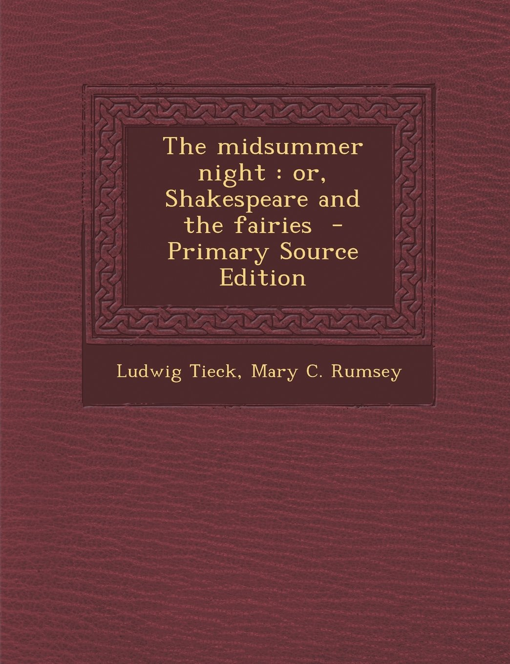 Midsummer Night: Or, Shakespeare and the Fairies PDF
