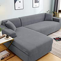 1- Piece Couch Slipcover for Furniture,for Living Room Stretch Sectional Slipcovers L Shape Armchair Protector-10_145…