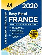 Easy Read France 2020 Flexibound (AA Road Atlas France)