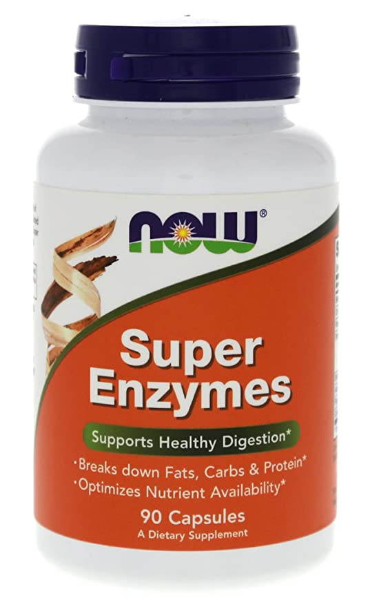 NOW Foods Super Enzymes -- 90 Capsules: Amazon.es: Salud y cuidado ...