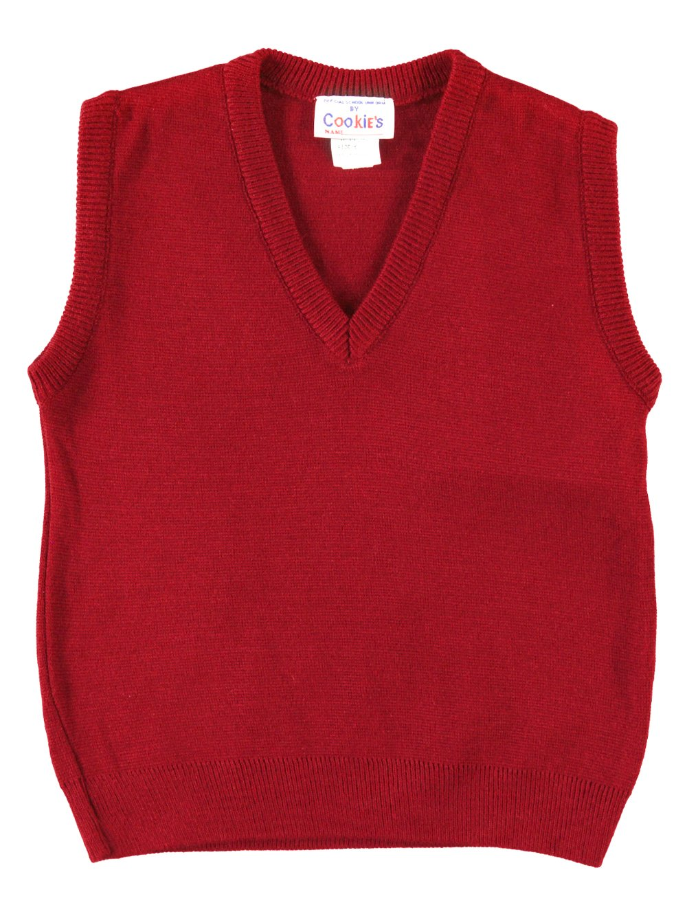 Cookie's Brand Unisex V-Neck Sweater Vest - red, 4-5