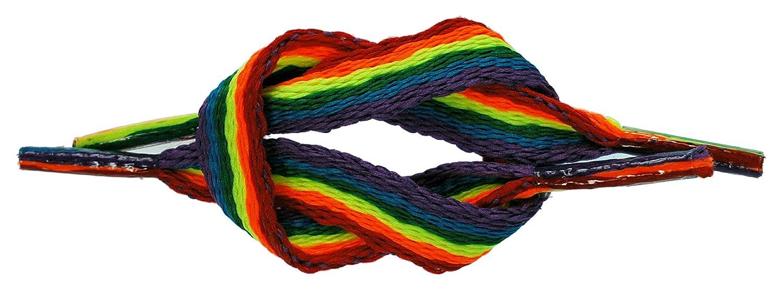TZ Branded Gay Pride Rainbow Laces Flat 3/8