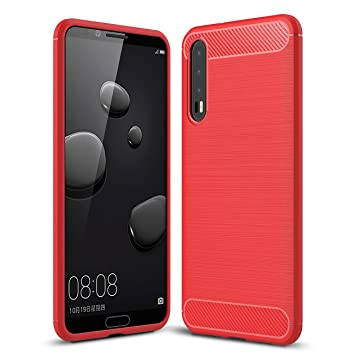 coque rouge pour huawei p20