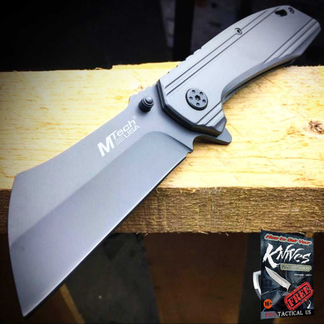 M-TECH Razor Sharp Cleaver Style Spring Assisted Open ...