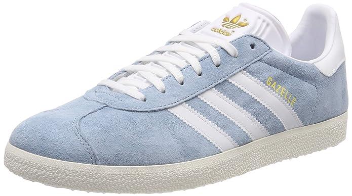adidas Damen Gazelle Sneaker Grau (Ash grey) mit weißen Streifen