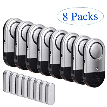Amazon.com: Alarma para ventanilla de puerta, 8 piezas ...
