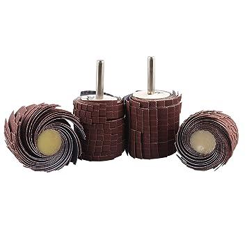400/Roues /à lamelles abrasives 6/mm Tige pon/çage meulage Sable papier dobturation de roue Chiffon de polissage de meulage Sculpture sur bois en m/étal T/êtes de polissage 320 240 4/pcs Accessoires Dremel 150