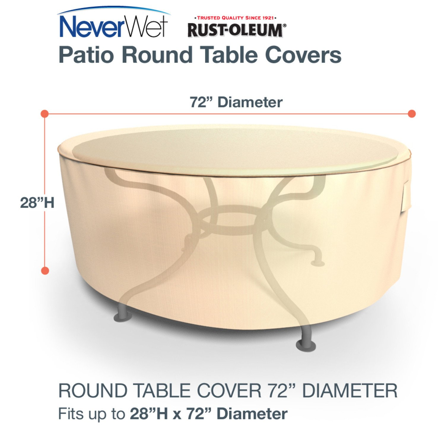 Budge p5a07tnnw1 round table extra large rust oleum neverwet patio furniture cover