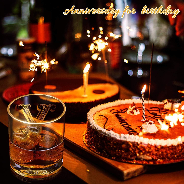 vintage non sbiadisce perfetto come regalo e per uso domestico stile vintage scotch realizzato a mano in oro 24 carati Bicchiere da whisky per uomo//pap/à//figlio decorazioni per feste A 283,5 g