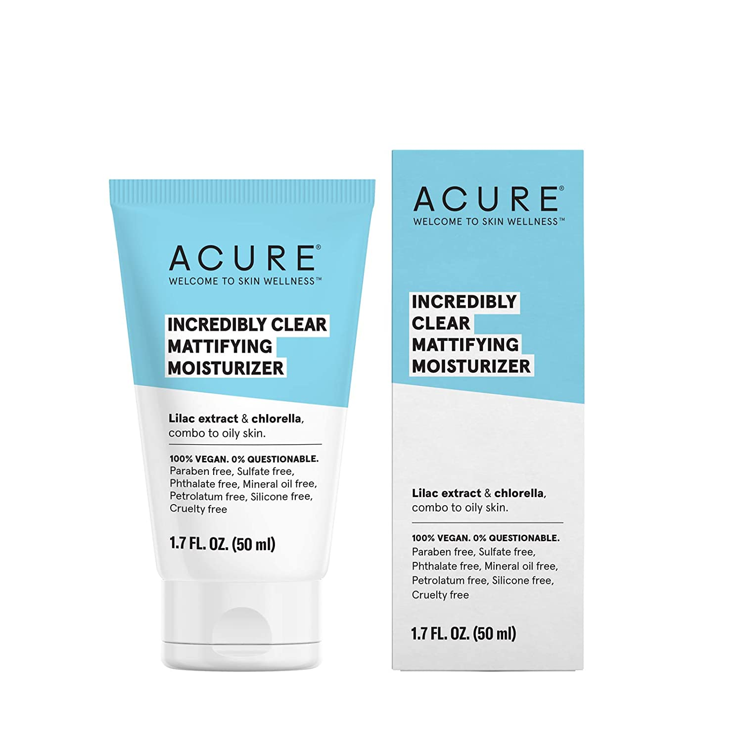 ACURE Incredibly Clear Mattifying Moisturizer, 1.7 Fl. Oz. (Packaging May Vary) ET1009