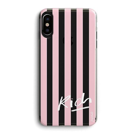 the latest 39532 d8f58 Amazon.com: iPhone XR Case,Funny Cute Girls Women Pink Stripe ...