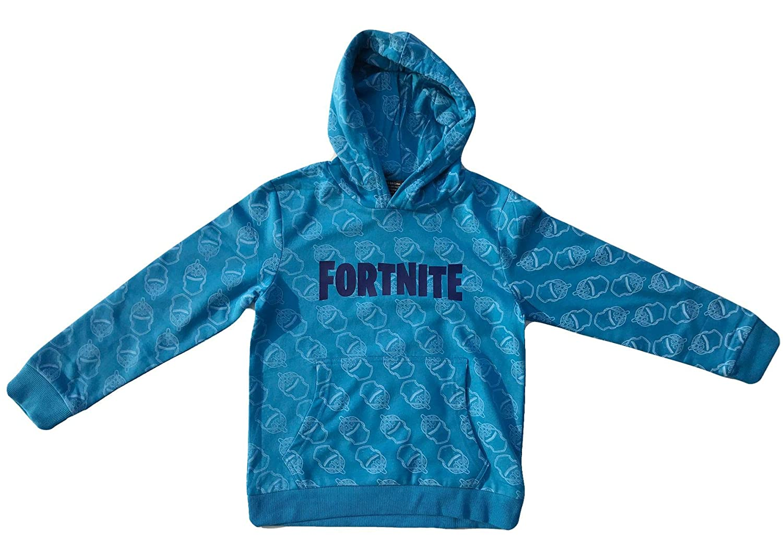 Epic Games FORTNITE Jungen Hoodie Sweatshirt mit Kapuze Gr 140 152 164 176-10 12 14 16 Jahre Sky Blau