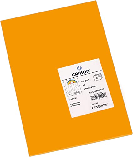 Canson Iris Vivaldi A4 185 gsm Smooth Colour Paper Pack of 50 Sheets Fir Tree