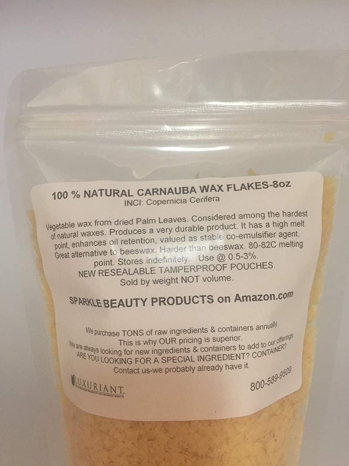 Carnauba Wax-100% Natural-Vegan-8oz