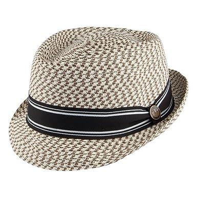 7cfb129e86556 Goorin Bros. Big Boy Kris Toyo Straw Trilby Hat - Beige-Brown MEDIUM  Amazon.co.uk   Clothing