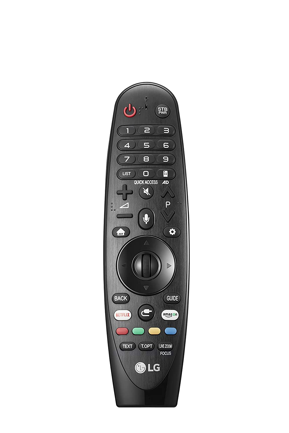 daa091d9c LG Magic Control AN-MR18BA - Mando a Distancia (Reconocimiento de Voz,  apunta y navega, Rueda de Scroll, Botones Netflix y Amazon, Teclado  numérico) Color ...
