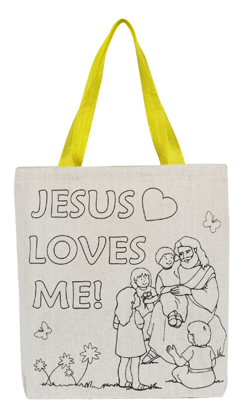 Color Your Own Tote Bag - Jesus Loves Me- 12pk