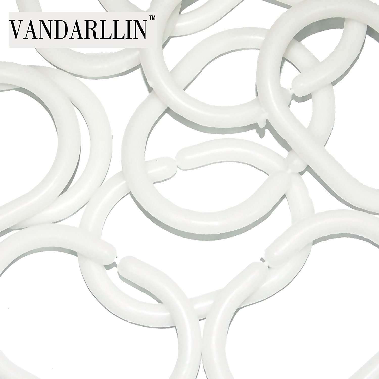Vandarllin Rustic Old Barn Wood Waterproof Shower Curtain with Hooks 36 x 72 Inch Long,Bathroom Decorations,Brown