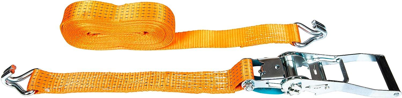 PKD 720 2 pezzi 5000 kg 6 m cinghie con cricchetto 2 pezzi con gancio cinghia di ancoraggio 50 mm 5000 daN 5t