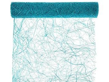 Unbekannt Gewebtes Tischband Tischlaufer Petrol Blau Rosa Grun 5m