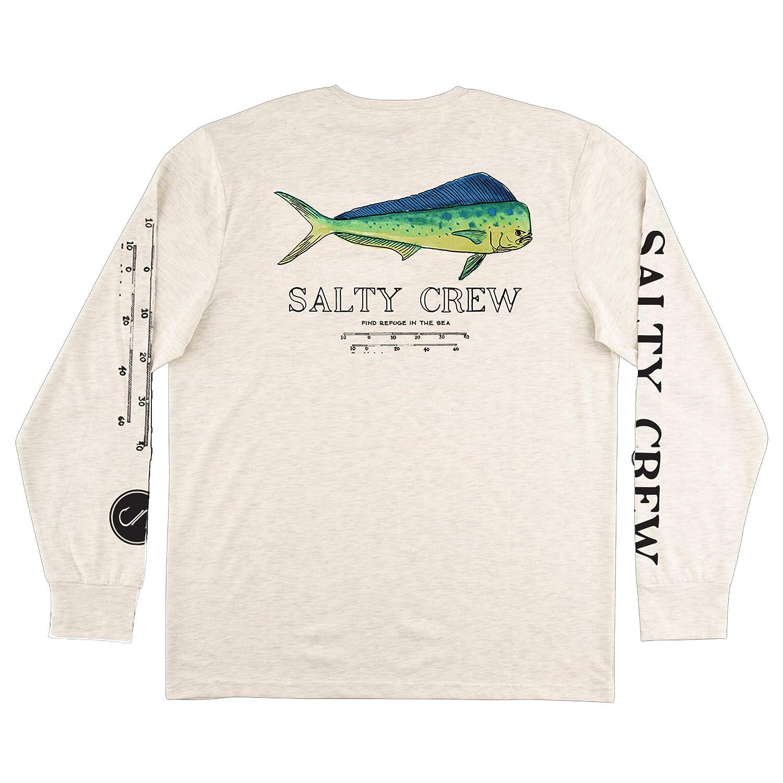 Salty Crew Angry Bull Tech LS T-Shirt White