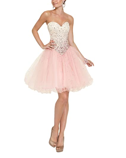 Special Bridal Womens Short Prom Dresses Sweet Heart Neckline Tulle Homecoming Dresses
