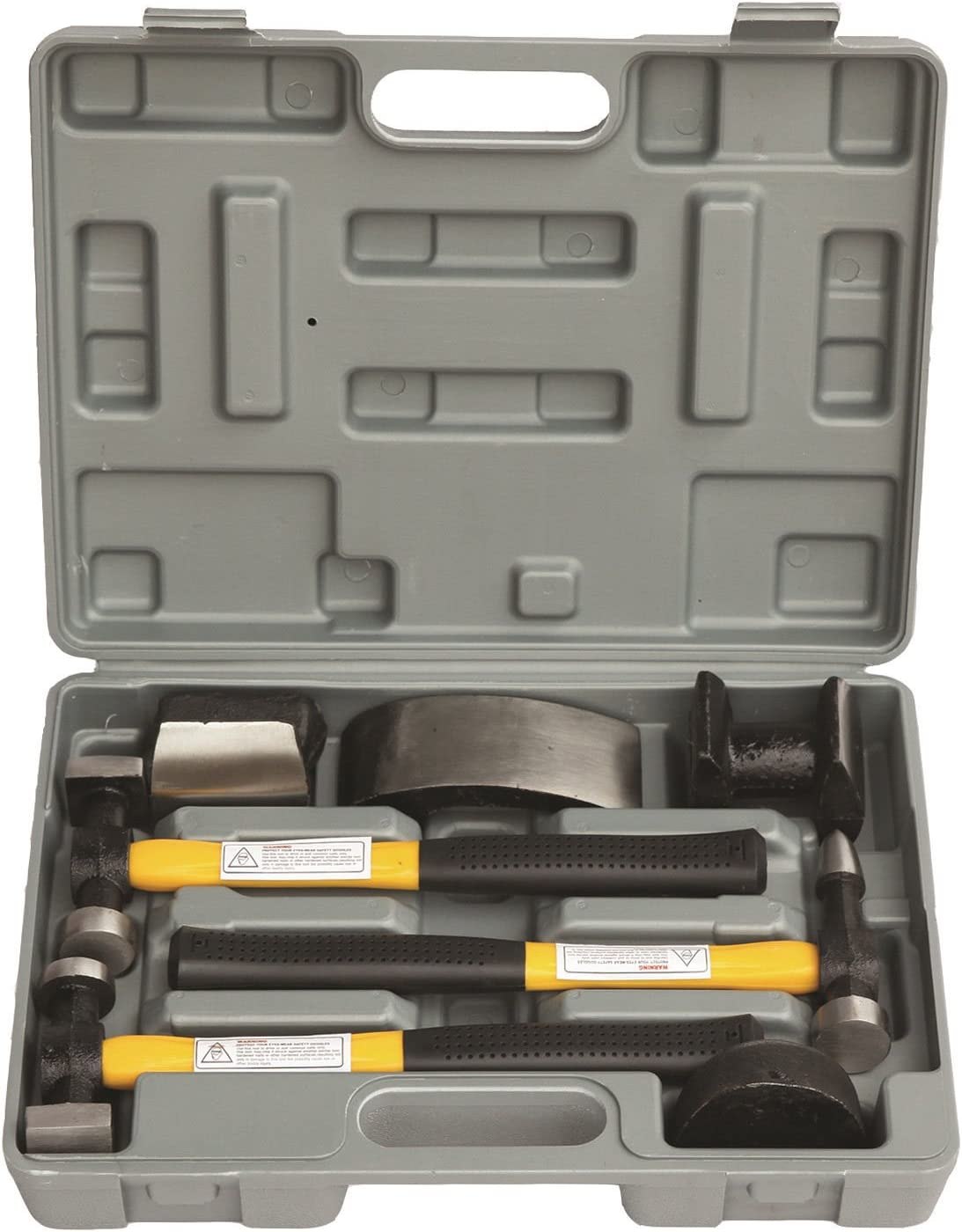 HFS R 7 Pcs Set Auto Body Fender Repair Tool Hammer and Dolly Set
