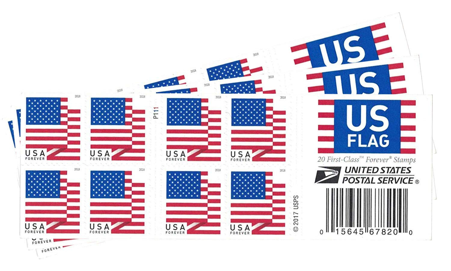 USPS US Flag 2018 Forever Stamps ((Book of 60))