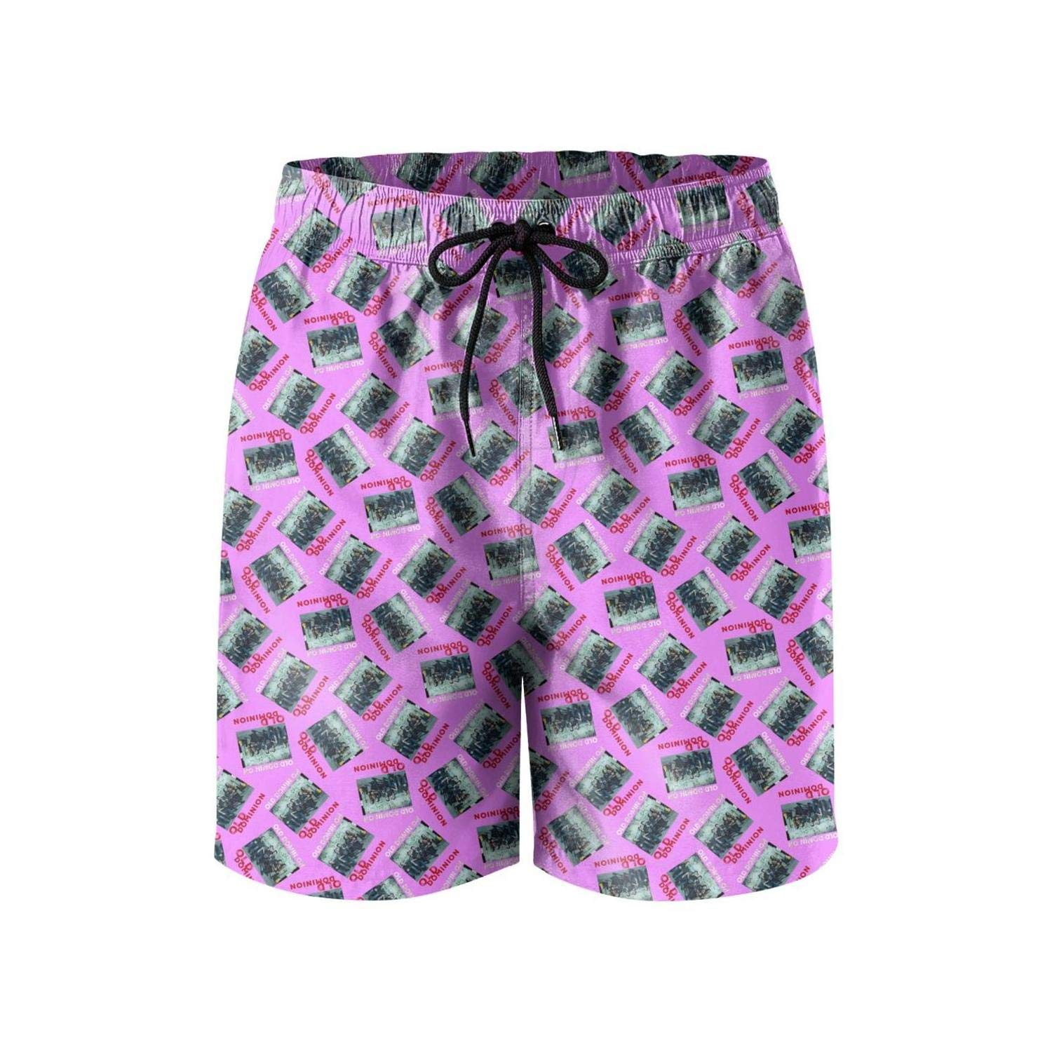 Mens Beach Shorts Fashion Music Swimsuit Trunks Jogging Colorful Home