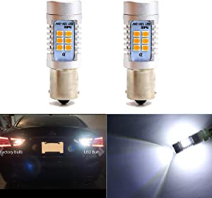 1156 Newest Super Bright w/21 SMD LED Bulbs 1073 1095 2396 for Back up Lights, Reverse Lights, Turn Signal Lights,Tail Lights, RV Lights White-6000K (Pack of 2)