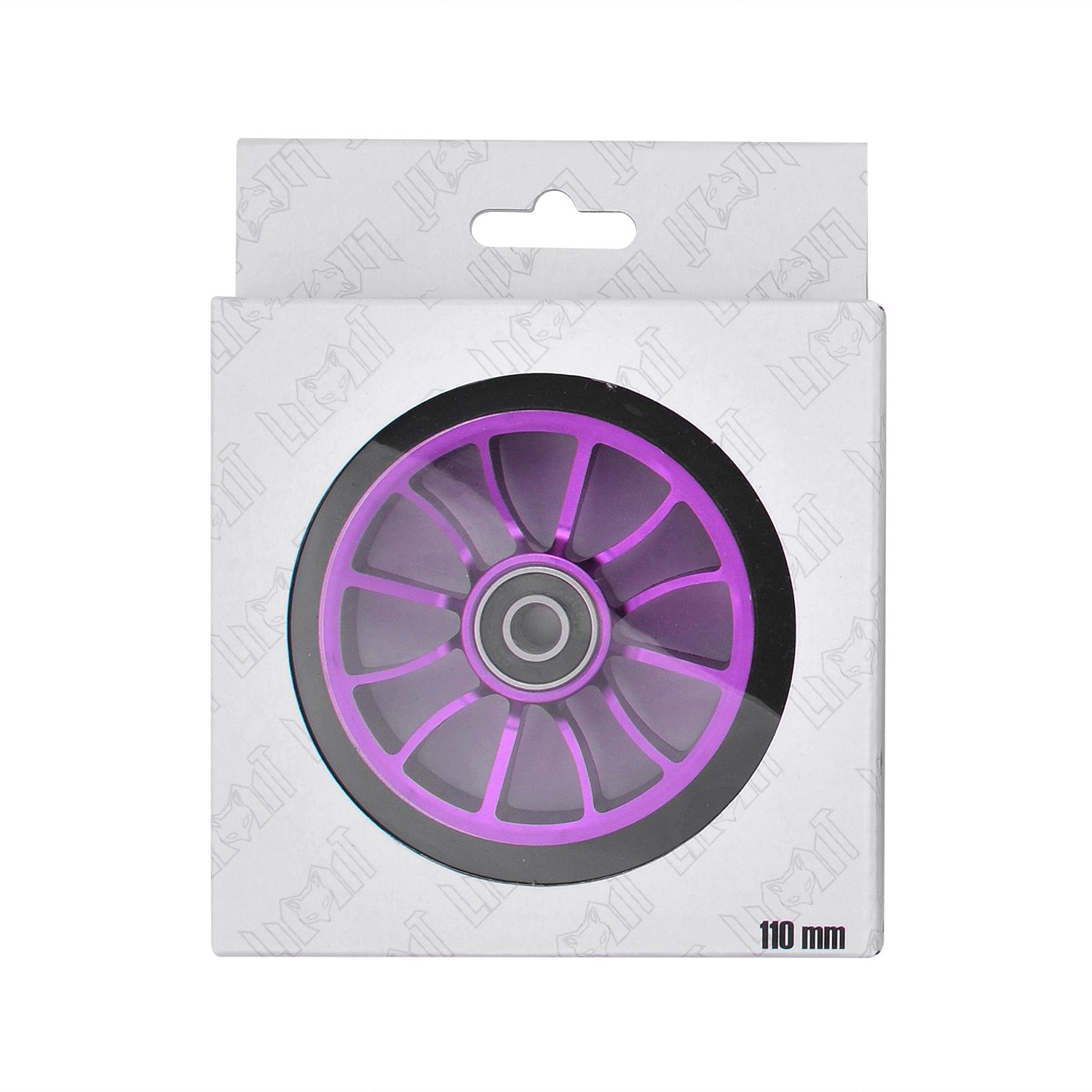 Unuber 2Pcs Replacement 110 mm Pro Stunt Scooter Wheel with Abec 9 Bearings Fit for MGP/Razor/Lucky Pro Scooters