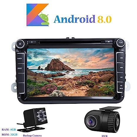 Android 8.0 Autoradio, Hi-azul 2 DIN Radio de Coche Navegación GPS De Coche