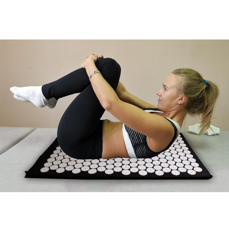Alfombra de acupresión - Grande Alfombra Acupresión para Alivio del Dolor y Relajación Muscular por Kurtzy - Acupresión Yoga masajeador - Masaje de ...