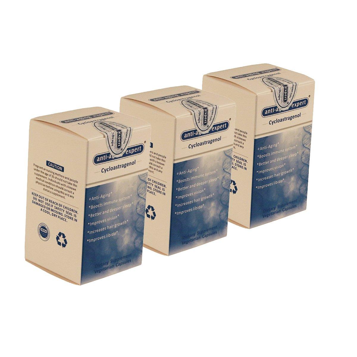 Cycloastragenol 99%+ |10mg, 30 Vegetarian Capsules,3 bottles| Anti-aging expert