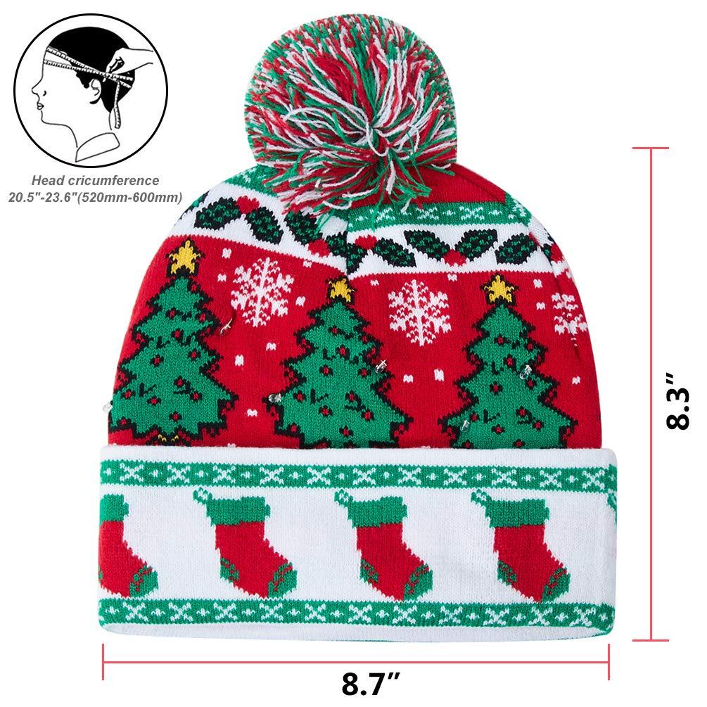 AIDEAONE novità LED Light Up Beanie Hat Lettera Maglia cap per Uomo Donna  Ragazzi Ragazze Feste 62427113a63b