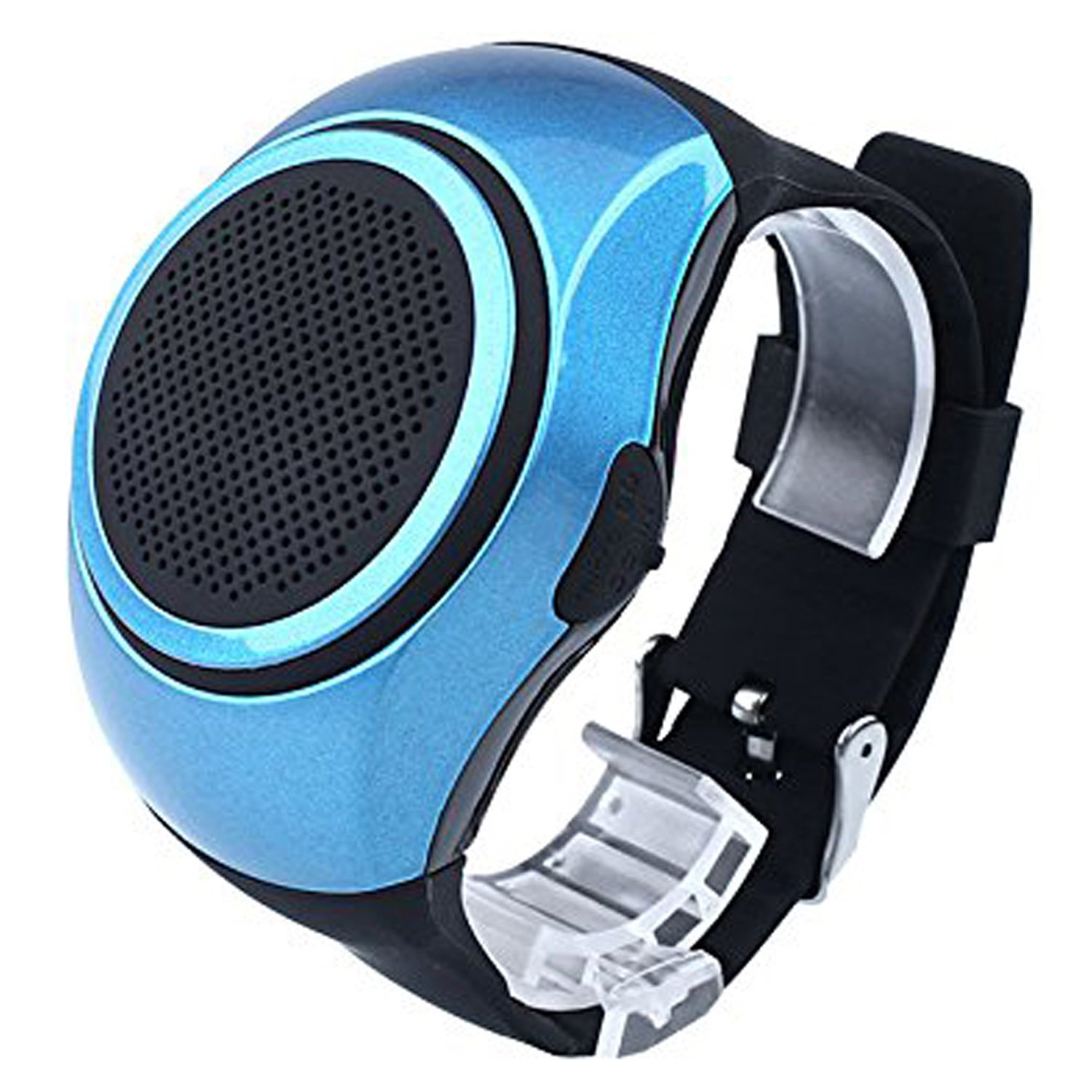 Bluetooth Speaker Watch Wearable Wireless Speaker Mini Sports Speaker Support TF Card MP3 Music Player FM Radio Handsfree Call Wristband For Android Samsung LG HTC Motorola Men Boy Girl Kids Blue