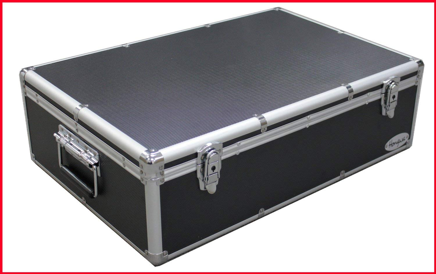 1000 Cd DVD Black Aluminum Hard Case for Media Storage Holder w/Hanger Sleeves