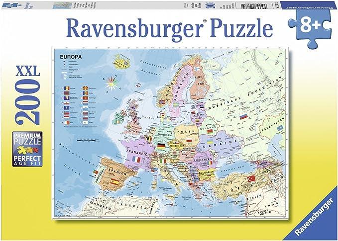 Ravensburger-Puzle Infantil «Carta de Europa política», Color Amarillo (12837): Amazon.es: Juguetes y juegos