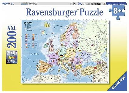 Amazon.com: Ravensburger Political Map of Europe Jigsaw Puzzle (200 ...