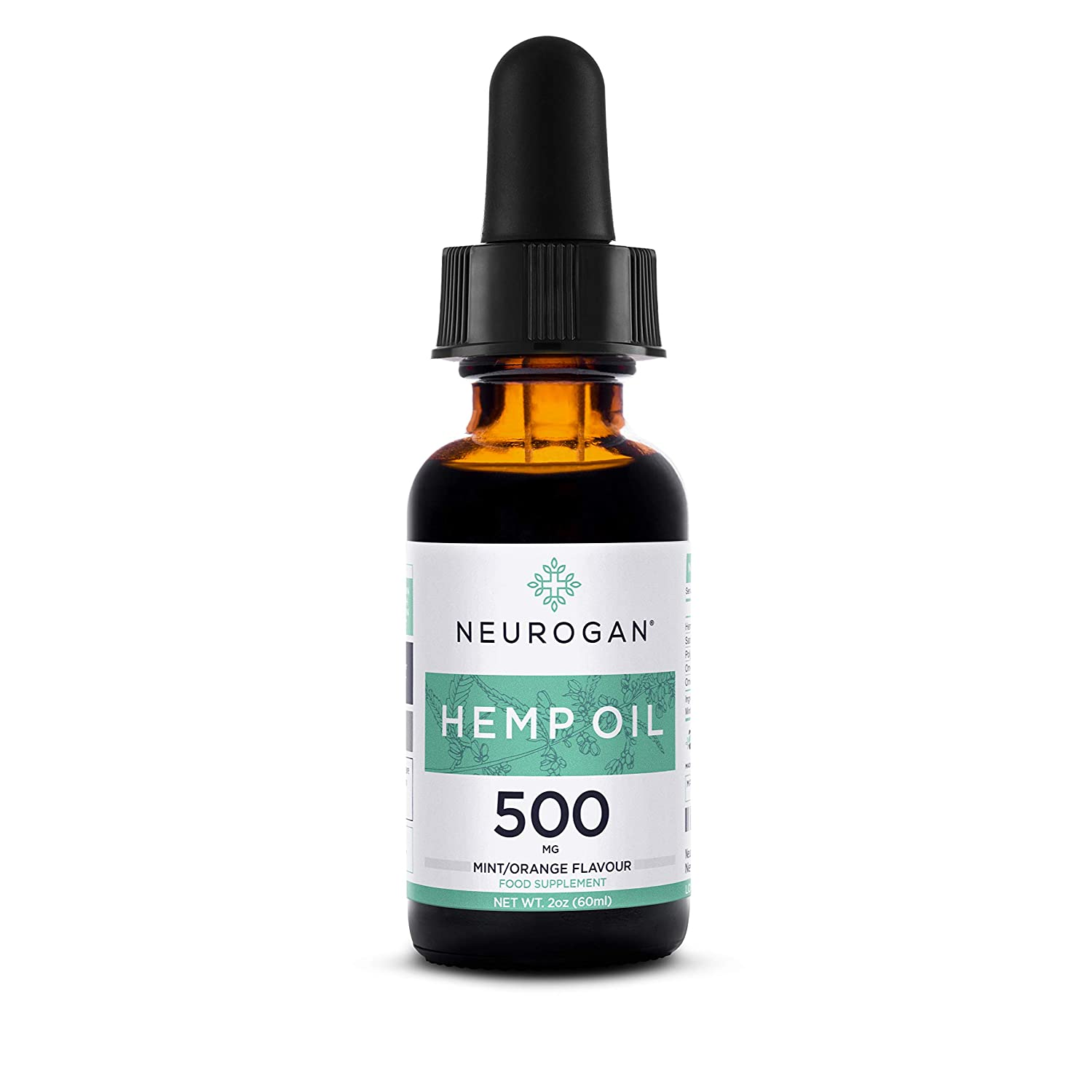 Neurogan Hemp Oil Drops 500mg 30ml | 100% Pure Natural Ingredients Full Spectrum Co2 Extracted | Anti-inflammatory | Help Reduce Stress, Anxiety and Pain | Vegan & Vegetarian Friendly Neurogan Labs