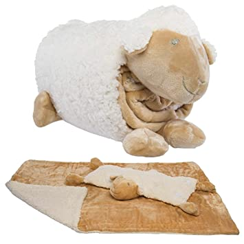 Snuggle Me Sherpa Large Soft Baby Blanket   Plush Pillow Stuffed Animals  For Girls c3c9970eb