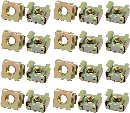 20pcs M6 65Mn Spring Steel Captive Cage Nut for Server Shelf Cabinet