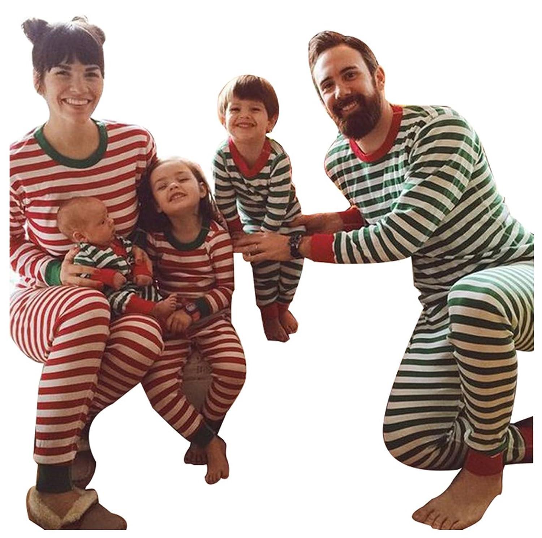 f38e249e76 Kostenloser Versand LvRao Weich Bequem Family Weihnachten Schlafanzüge für  Familie Gestreift Pyjama für Eltern und Kleinkinder. BD Damen Rock lang ...