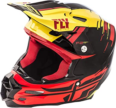 Black//Red//Light Blue XL X-Large Fly Racing 2018 F2 CARBON Fracture Helmet