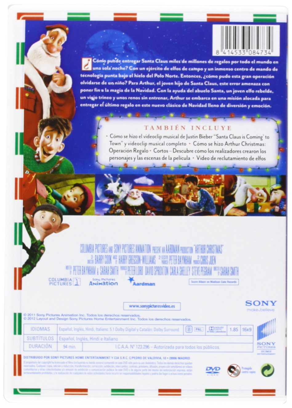 Amazon.com: Arthur Christmas: Operación Regalo (Import Movie ...