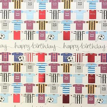Wendy Jones-Blackett feliz cumpleaños Foil camisas de fútbol papel ...