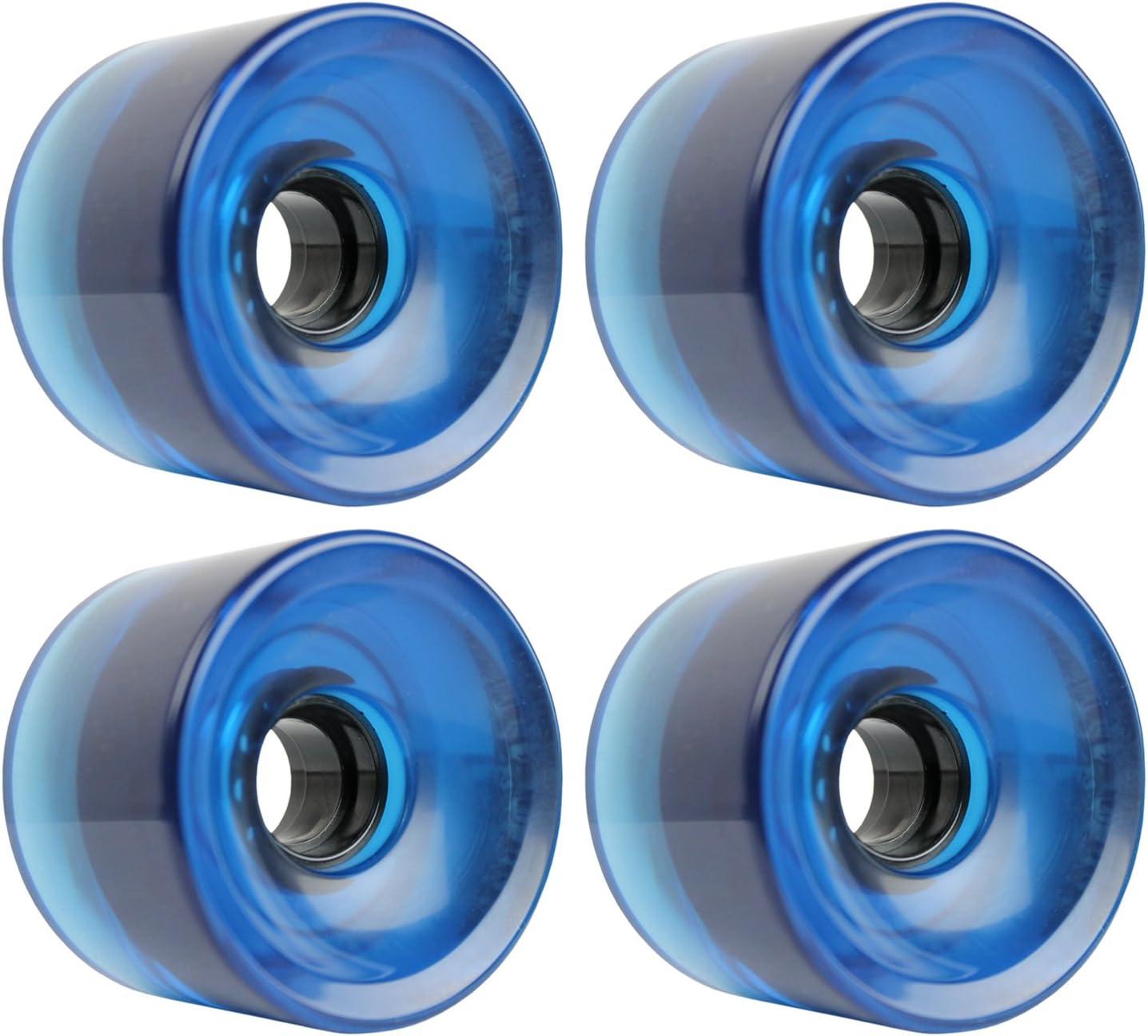 70mm x 51.5mm KSS 647C Longboard Cruiser 83A 4 Wheel Set Blue