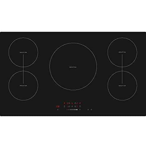 Cookology CIT901 90cm 5 Zone Built-in Touch Control Induction Hob in Black: Amazon.co.uk: Large Appliances