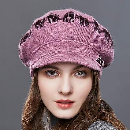 URSFUR Boina de lana clásico de pintor francés retro abf6c5afa510