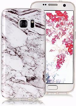 Funda Mármol para Samsung Galaxy S7 Edge, Ronger Carcasa Gel TPU ...